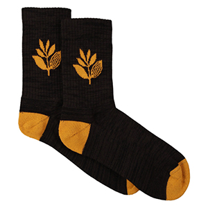Magenta Socks Black/Orange