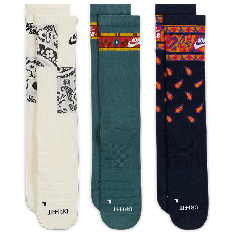 Nike SB Everyday Max Ltwt Crew Socks Multi/Color