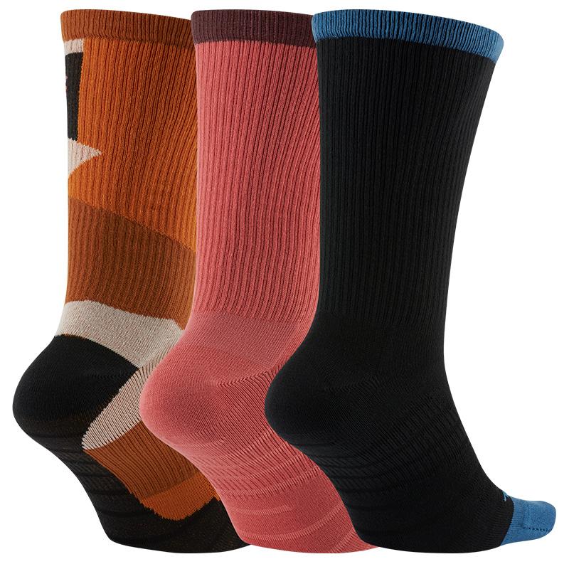 Nike SB Everyday Max Ltwt Crew Socks Pink/Brown/Black