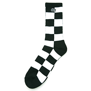 Obey Checkers Socks Black Multi
