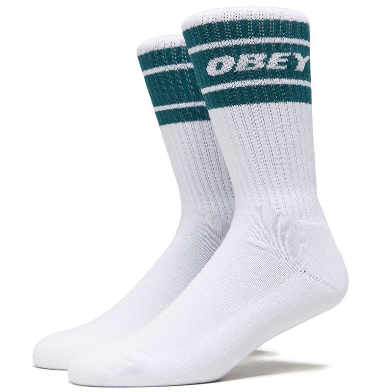 Obey Cooper II Socks White/Deep Ocean