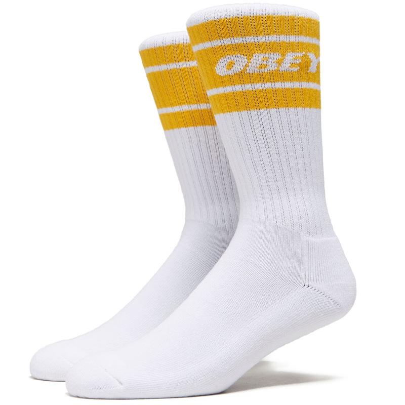 Obey Cooper II Socks White/Saffron
