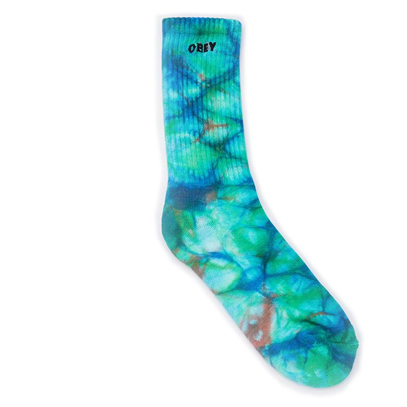 Obey Mountain Socks Blue Beat Multi