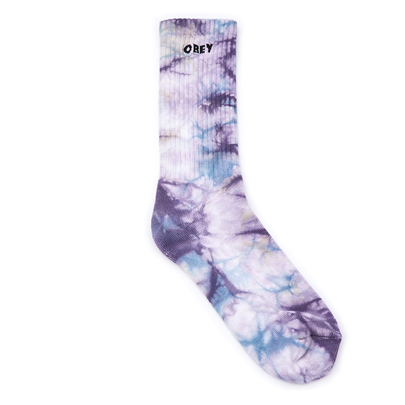 Obey Mountain Socks Purple Nitro Multi