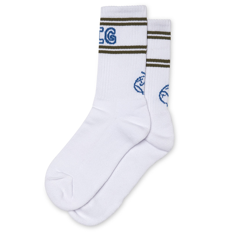 Polar Big Boy Socks White/Army/Blue