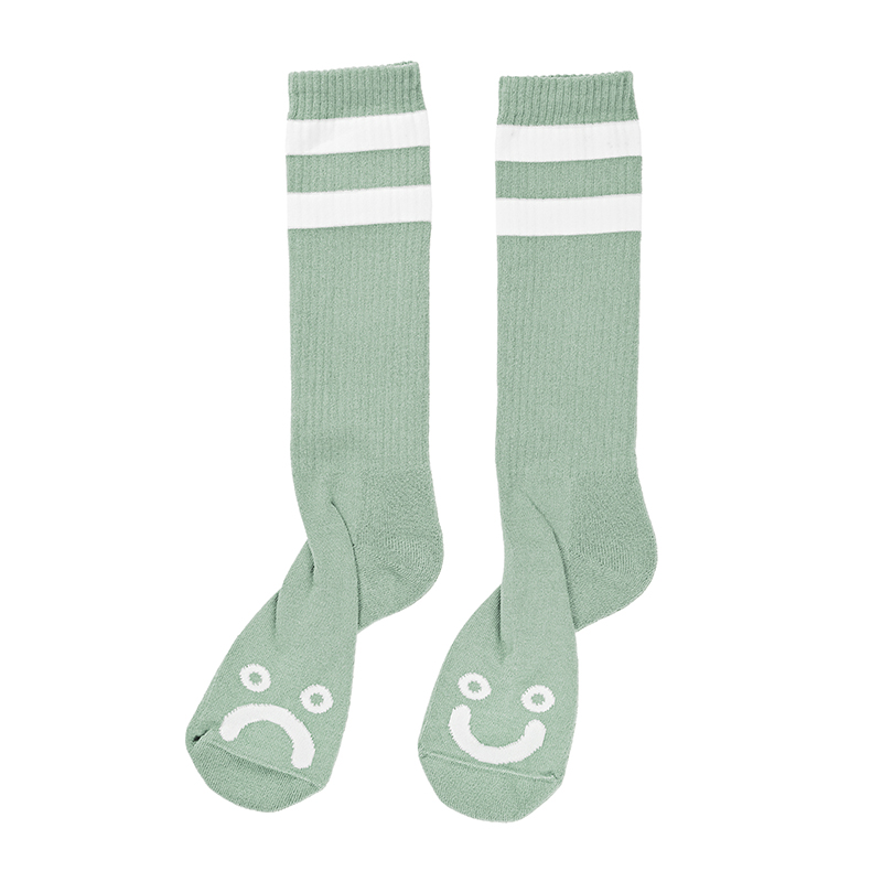 Polar Happy Sad Classic Sock Sea Foam Green / White