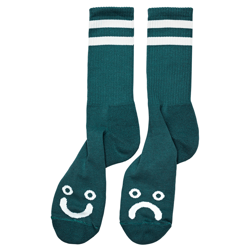 Polar Happy Sad Socks Dark Green
