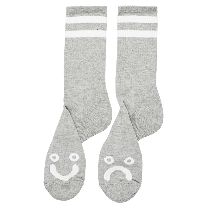 Polar Happy Sad Socks Heather Grey