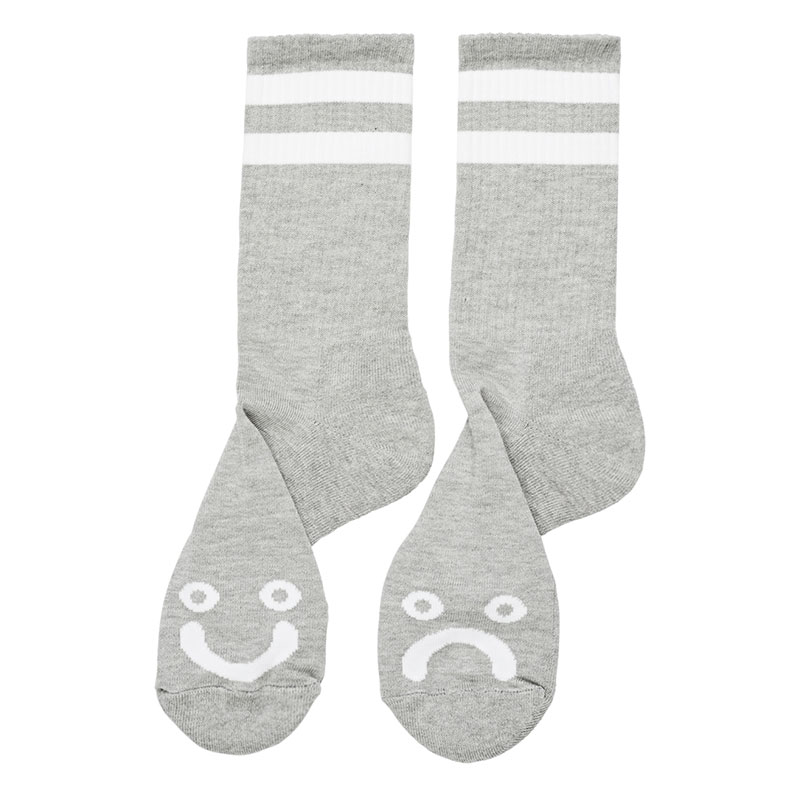 Polar Happy Sad Socks Sport Grey