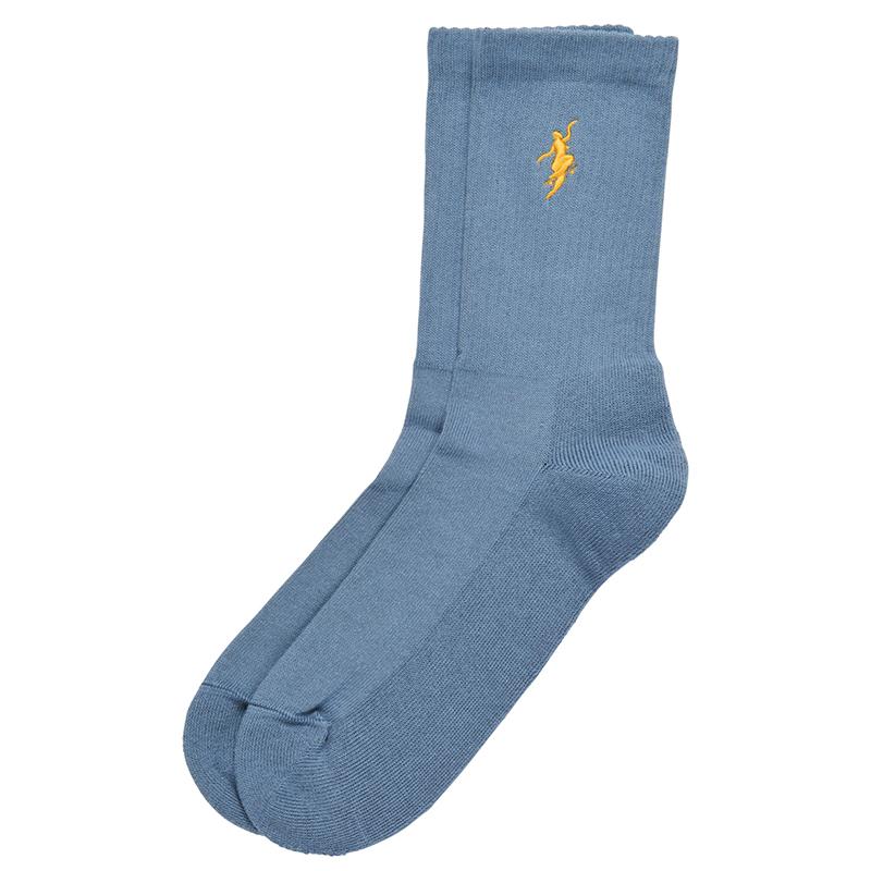 Polar No Comply Socks Slate Blue/Yellow