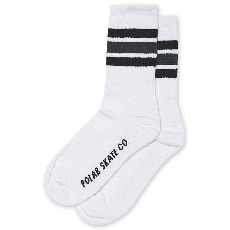 Polar Stripe Socks White/Black/Grey