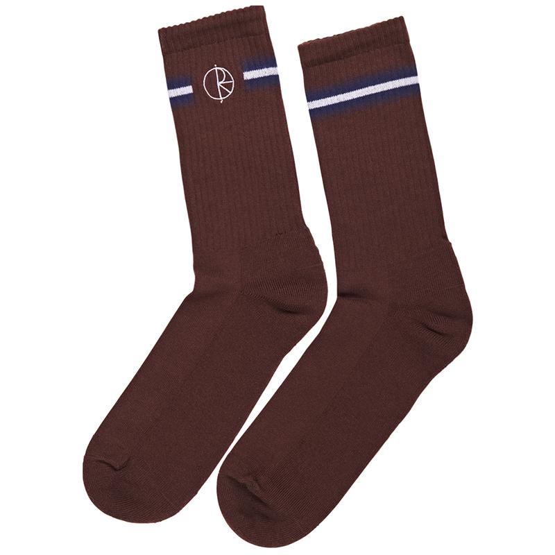 Polar Stroke Logo Socks Brown/Navy/White