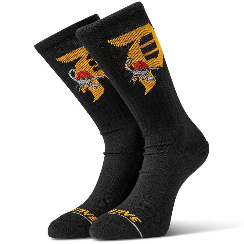 Primitive Dirty P Scorpion Crew Socks Black