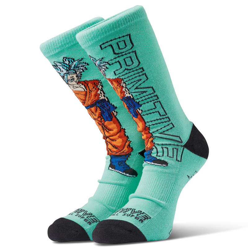 Primitive x DBS SSG Goku Socks Teal