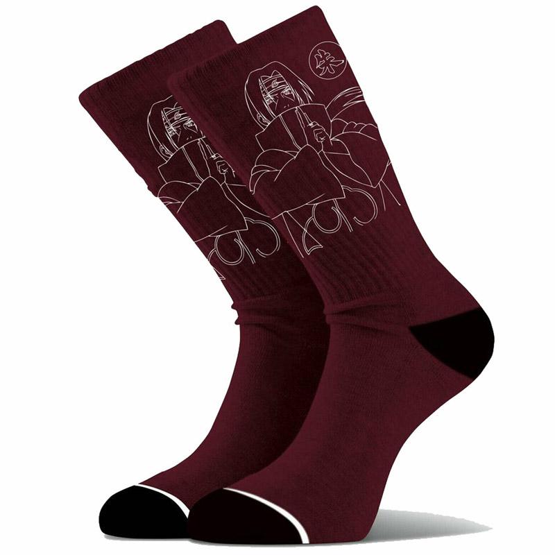 Primitive x Naruto Itachi Socks Burgundy