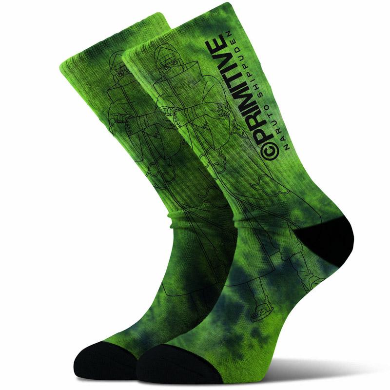 Primitive x Naruto Kakuzu Washed Socks Green