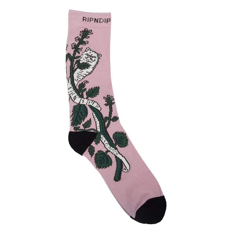 RIPNDIP Botanical Socks Pink