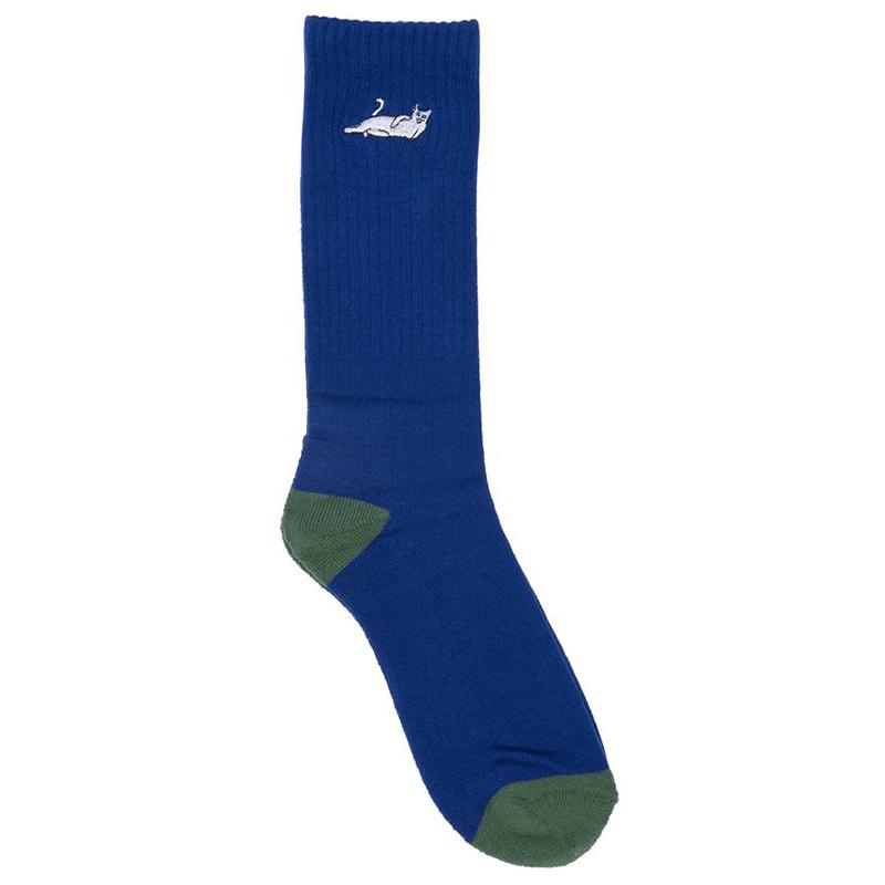 RIPNDIP Castanza Socks Navy/Hunter Green