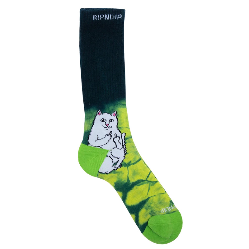 RIPNDIP Lord Nermal Prisma Socks Green Tie Dye