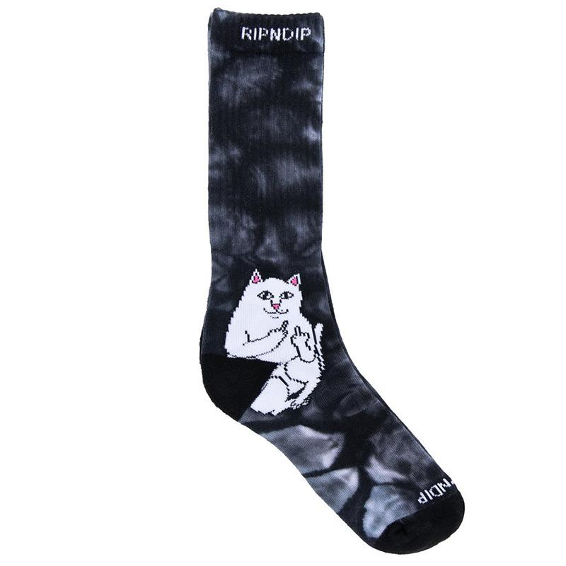 RIPNDIP Lord Nermal Socks Black Tie Dye