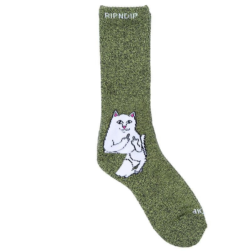 RIPNDIP Lord Nermal Socks Green Grey Speckle