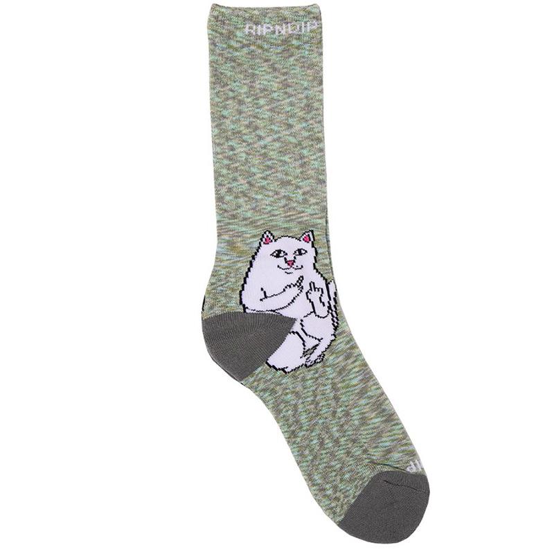 RIPNDIP Lord Nermal Socks Grey Speckle