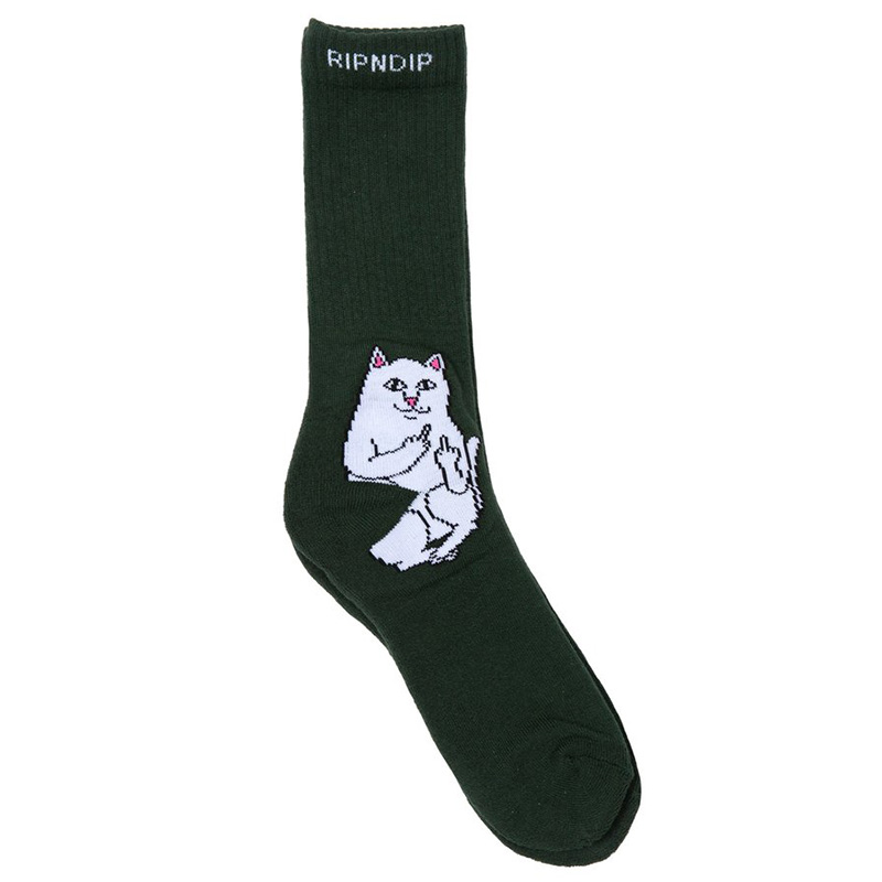 RIPNDIP Lord Nermal Socks Hunter Green