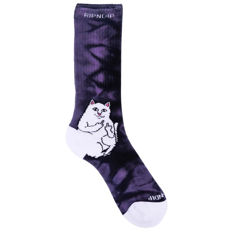 RIPNDIP Lord Nermal Socks Purple Lightning
