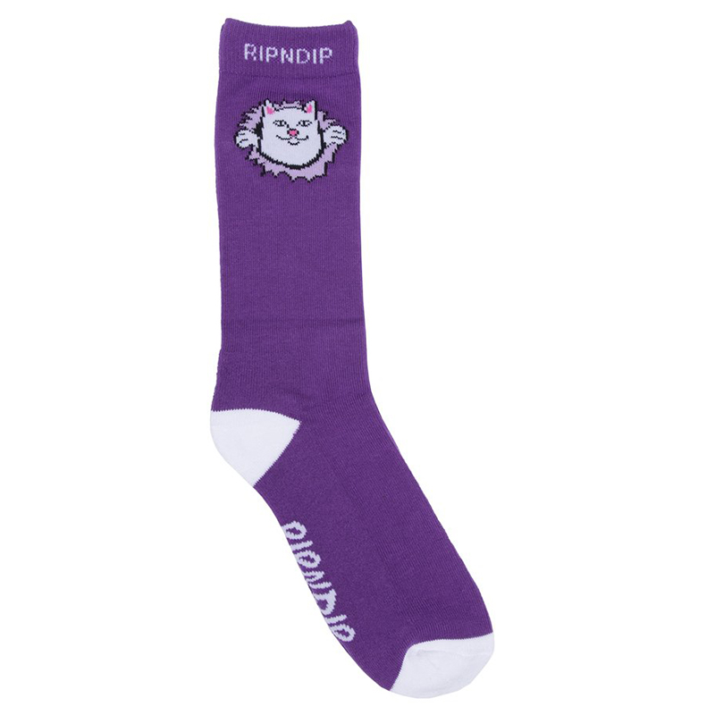 RIPNDIP Nermamaniac Socks Purple