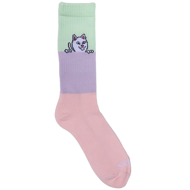 RIPNDIP Peeking Nerm Socks Color Block