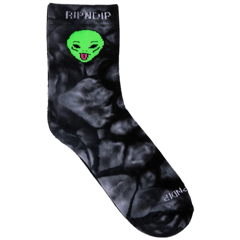 RIPNDIP We Out Here Mid Socks Black