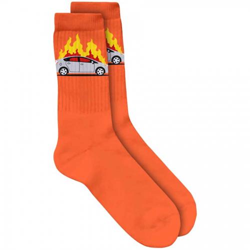 Skate Mental Prius Fire Socks Orange