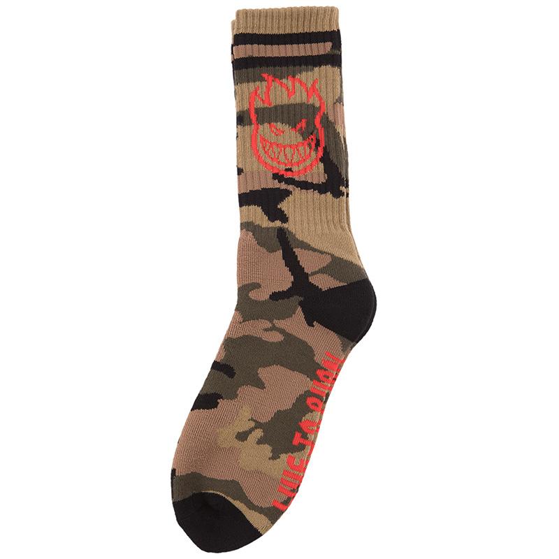Spitfire Bighead Socks Camo/Red/Black