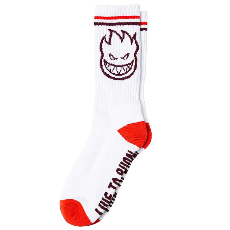 Spitfire Bighead Socks White/Red/Burgundy