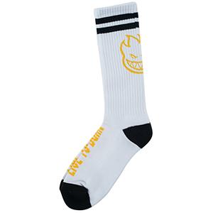 Spitfire Heads Up Socks White/Black/Yellow