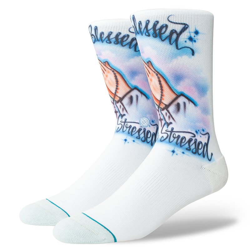 Stance Airbrush Blessed Socks Blue