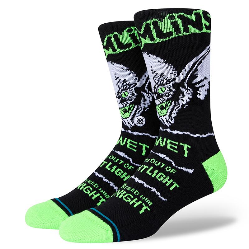 Stance Gremlins Bright Light Socks Black