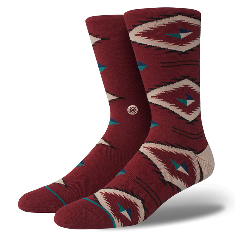 Stance Burke Socks Red