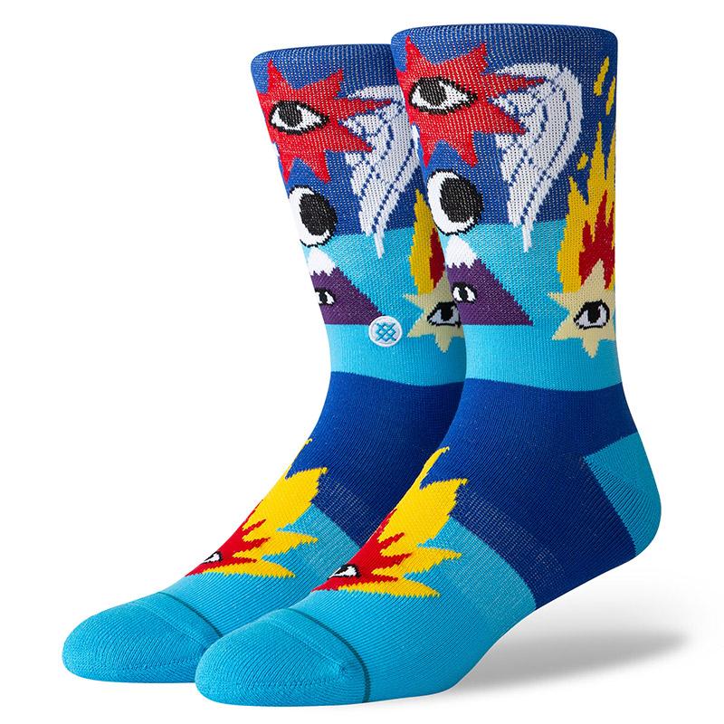 Stance Cavolo Shooting Star Socks Blue