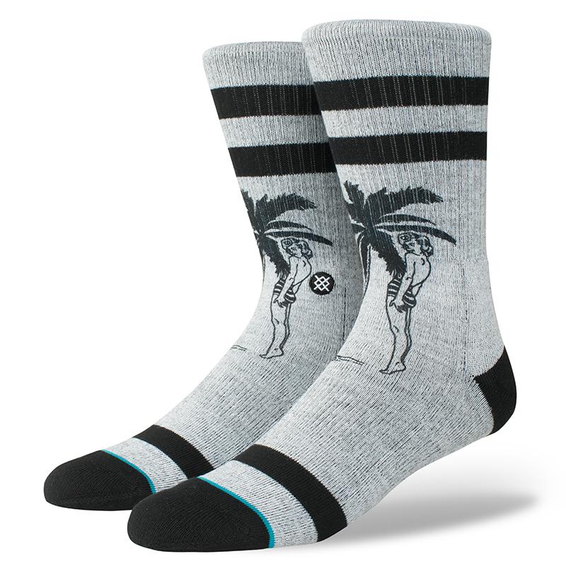 Stance Cheeky Socks Palm Grey