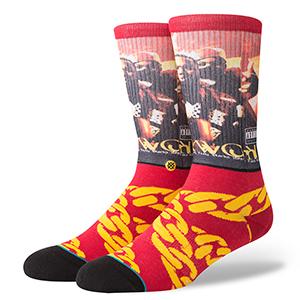 Stance Cuban Linx Socks Burgundy