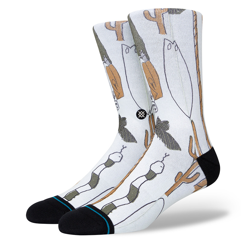 Stance Ded Man Socks Offwhite