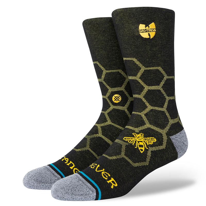Stance Wu-Tang Hive Crew Socks Black