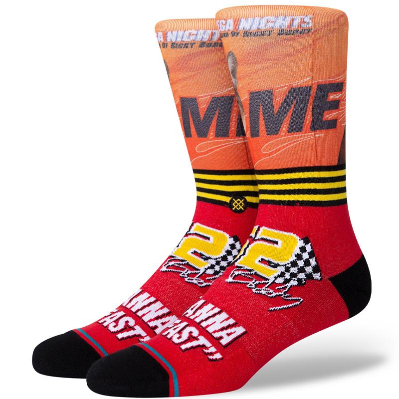 Stance I Wanna Go Fast Socks Red