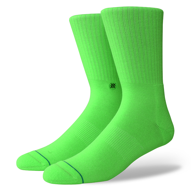 Stance Icon Anthem Socks Florescent Green
