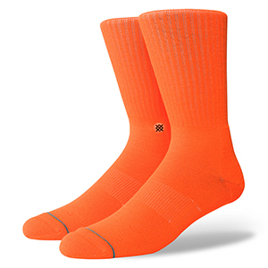 Stance Icon Anthem Socks Florescent Orange