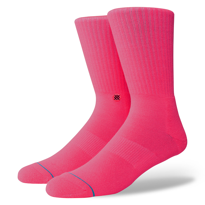 Stance Icon Anthem Socks Florescent Pink