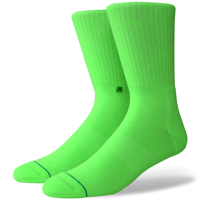 Stance Icon Socks Neon Green