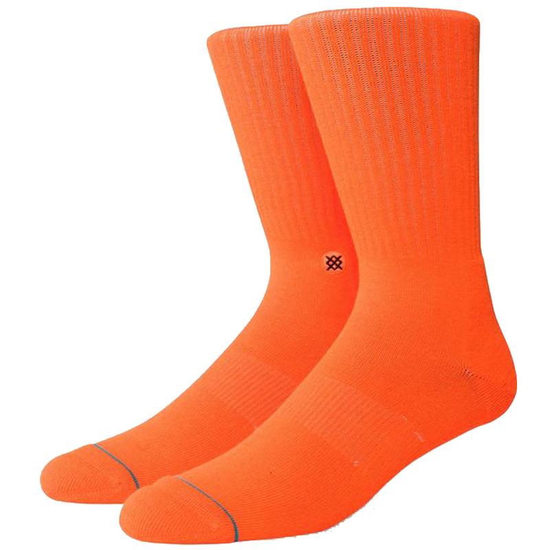 Stance Icon Socks Neon Orange