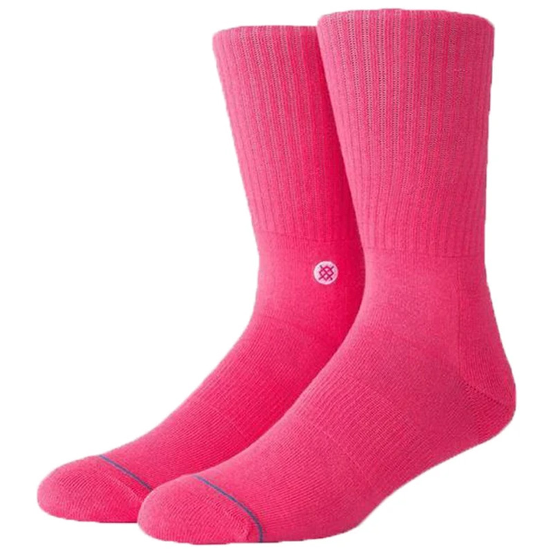 Stance Icon Socks Neon Pink